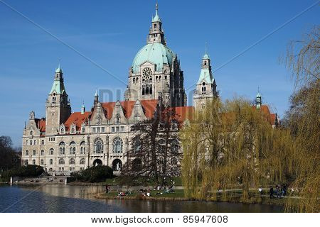 Neues Rathaus in Hannover, Germany