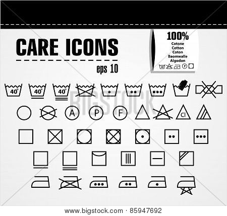 Care icon set.