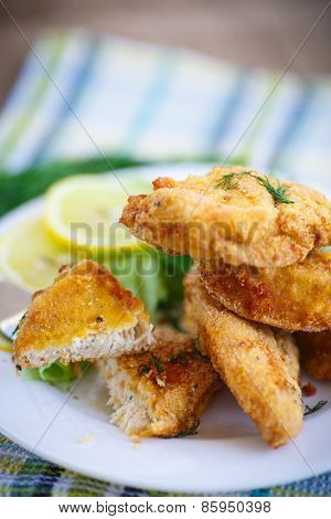 Chicken Fried In Batter With Dill