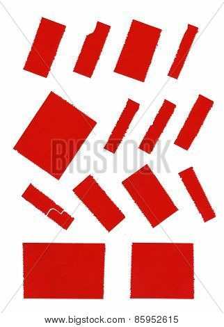 Red Adhesive Tape Isolated On White