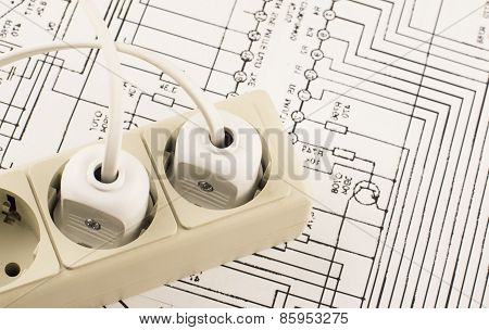Socket With Connected Plug