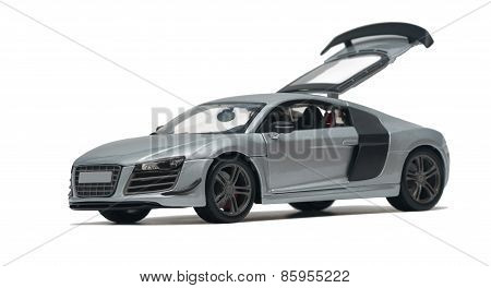 Model Silver Car Audi R8
