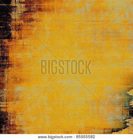 Old grunge background with delicate abstract texture and different color patterns: yellow (beige); brown; black