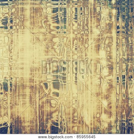 Designed grunge texture or retro background. With different color patterns: yellow (beige); brown; gray; black