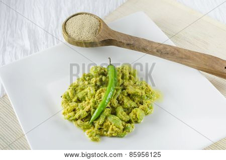 Ridge Gourd cooked with paste of poppy seed