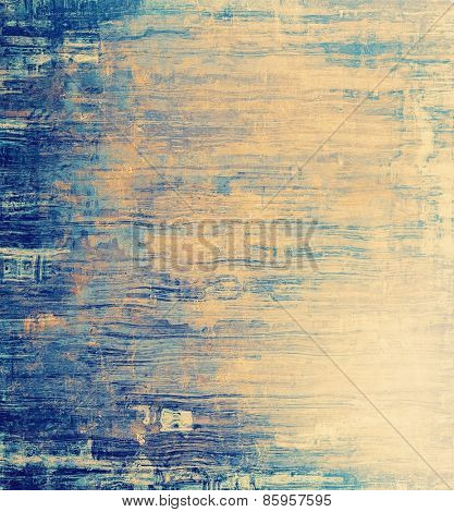 Old, grunge background texture. With different color patterns: yellow (beige); blue; cyan