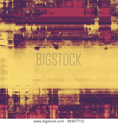 Antique vintage texture or background. With different color patterns: yellow (beige); purple (violet); pink