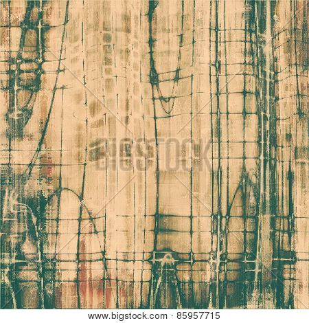 Abstract old background or faded grunge texture. With different color patterns: yellow (beige); brown; green