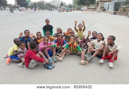 Children's Football In Ethiopia