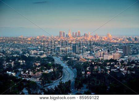 Los Angeles with urban buildings