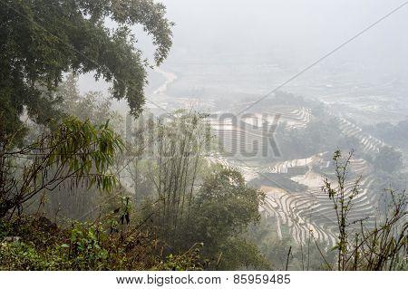 Misty day in Sapa, Vietnam