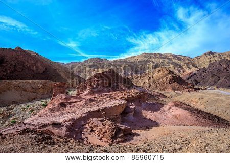 Dry stone desert near the southern seaside resort of Eilat