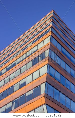 Windows Of A Modern Office Building In Groningen