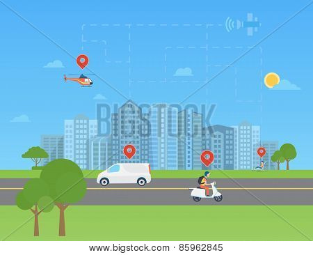 Global positioning system data monitoring.