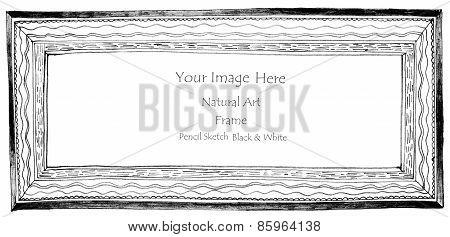 Frame Wave Black Line