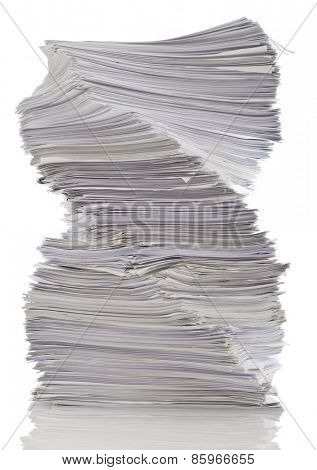 Twisted stack of papers