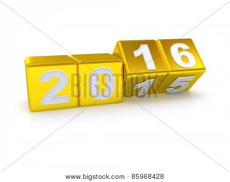 Happy New Year 2016. 3d