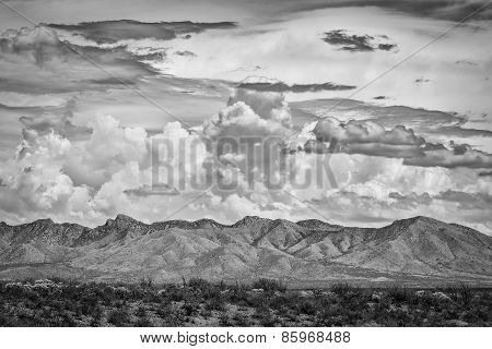 Dramatic Clouds Above Mountain