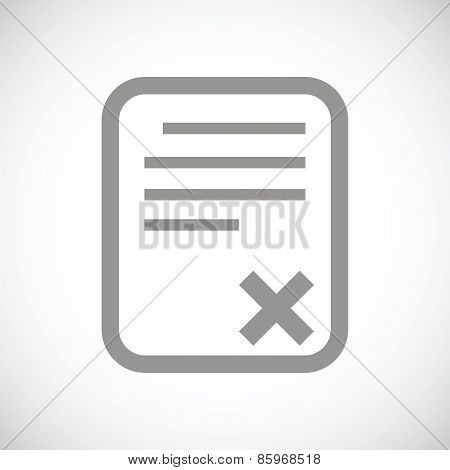 Bad document black icon