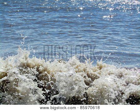 Small Waves Crashing