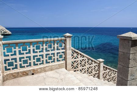 View to the sea from a balcony