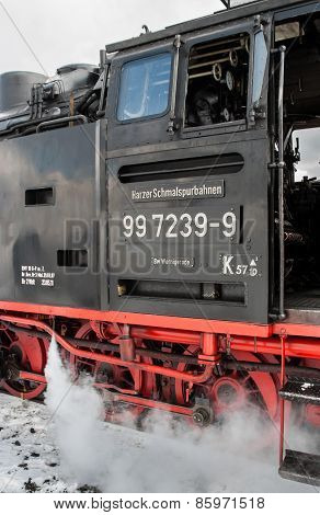Detail Of A Locomotive Of The Harzer Schmalspurbahnen