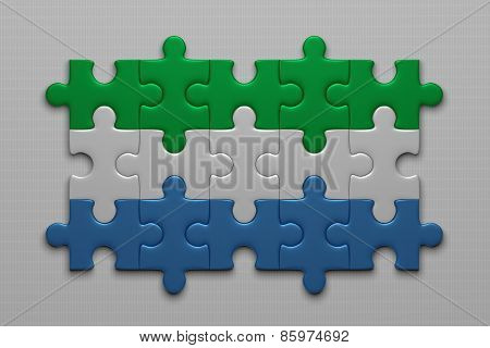Sierra Leone Flag Of Puzzles