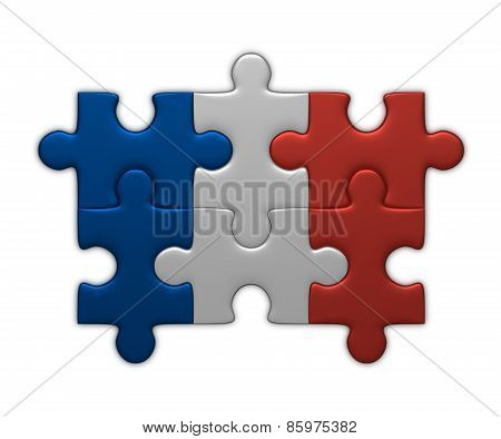 France Flag Of Puzzles