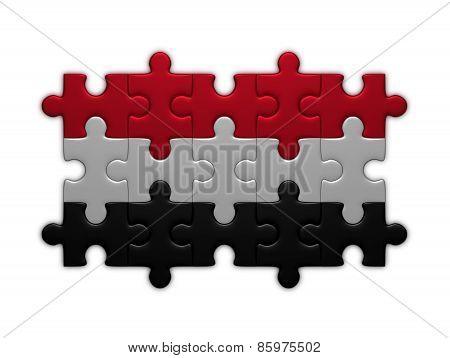 Yemen Flag Of Puzzles