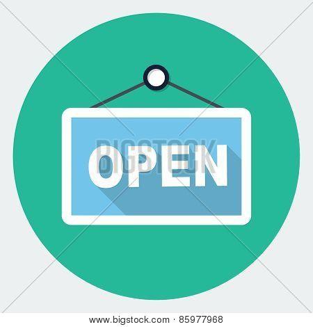 Vector open sign