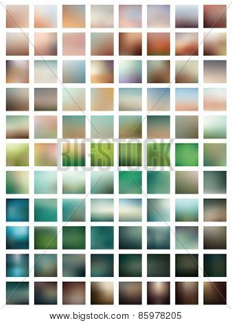 88 professional colorful blurred vector backgrounds