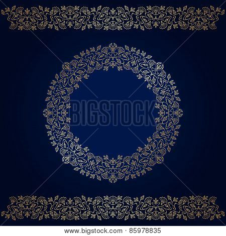 Vector Art Nouveau gold Elements.