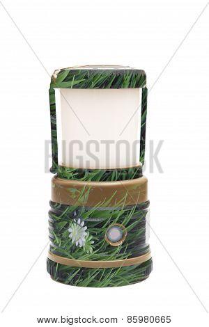 Environmentally Friendly Tourist Lantern Isolated
