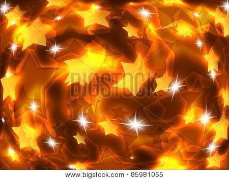 Abstract background with luminous stars.