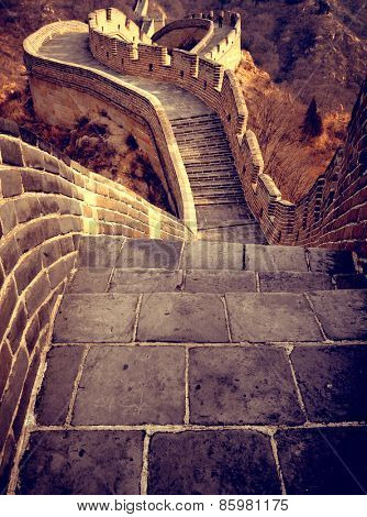 Great Wall of China Historic Landmark Concept