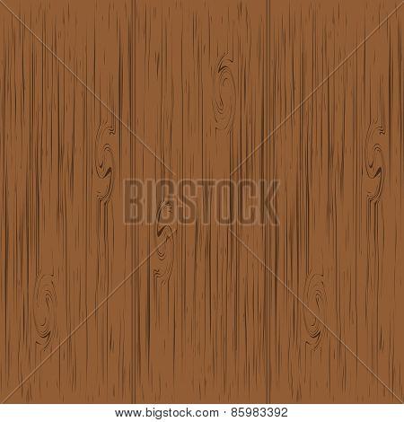 Brown wood texture, vector background