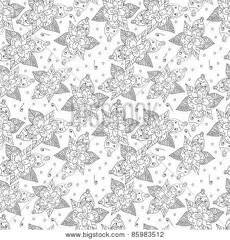 Seamless pattern from the drawn outline