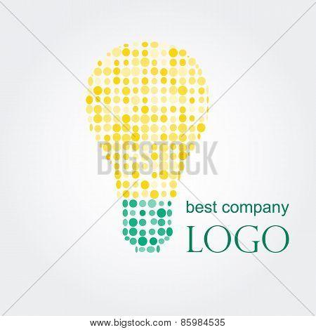Light bulb idea vector illustration. Logo concept.