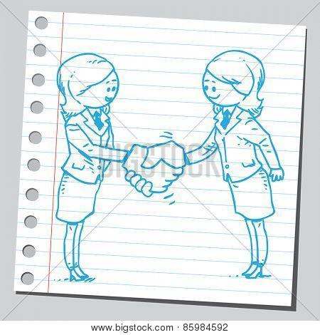 Businesswomen agreement