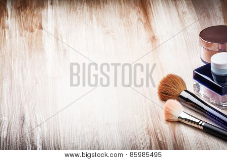 Makeup Brushes And Face Powder