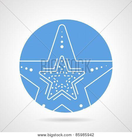 Starfish round vector icon