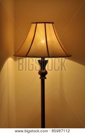 Illuminated self-standing lamp.
