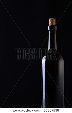 Bottle Of Red Wine With Copyspace