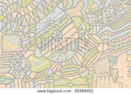 Abstract easter background with egg and lines Vector illustration