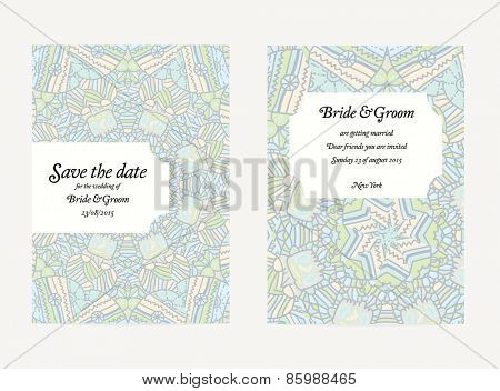 Set of wedding invitation card