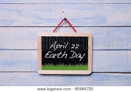 Earth Day Blackboard.