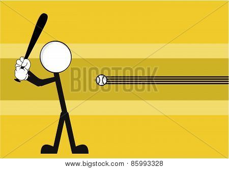 baseball pictogram background