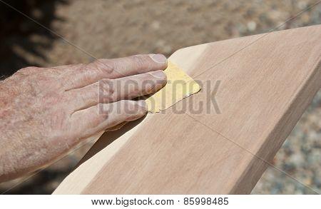 Sanding Timber