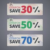 picture of scissors  - Scissors cutting coupons with discounts - JPG