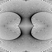 stock photo of distort  - Design monochrome movement illusion background - JPG